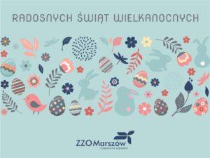kartka wielkanocna ZZO Marszow